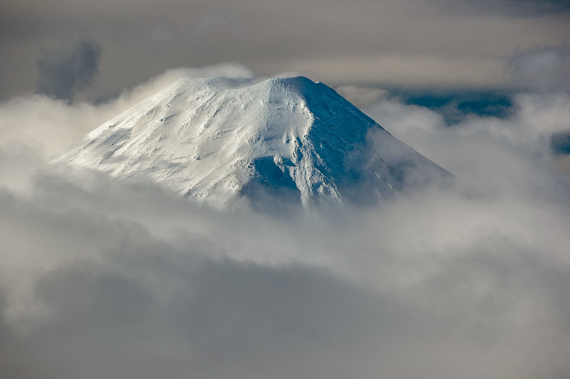 Mt.  Ngauruhoe, one of three major volcanoes on the North Island's volcanic plateau.
