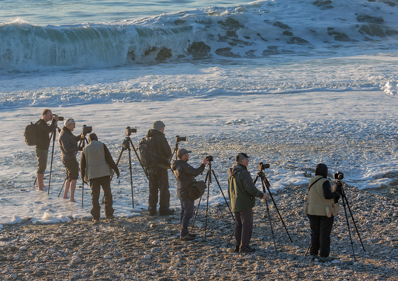 Shooting the Tasman Sea (and dancing away from the incoming tide). (Photo by Ellen Moskowitz)