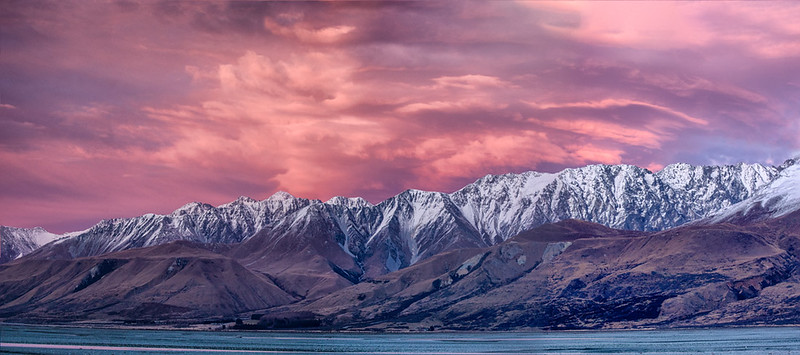 Ben Ohau Range at sunrise