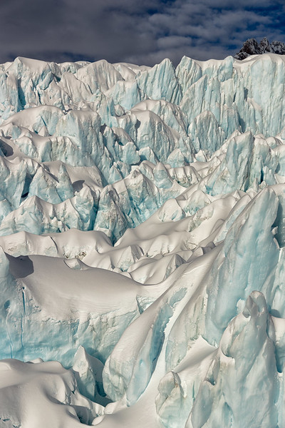 Ice field, Fox Glacier, helicopter flight