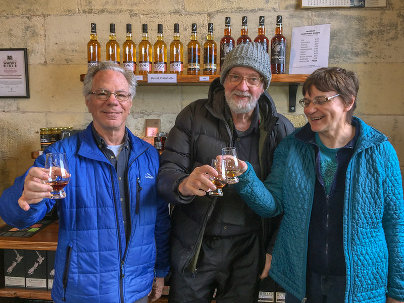Jack, Gary, and Ellen imbibing some of the local whiskey.