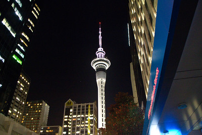 Auckland Sky Tower a Block Away