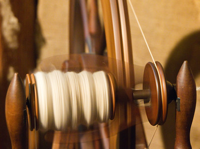 Close up of Wool Spinner