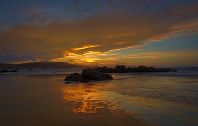 Plimmerton, golden sunset