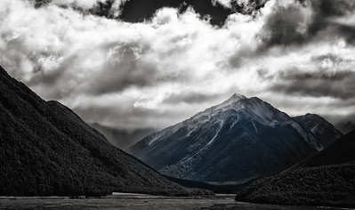 Stormy over the mountains