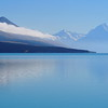 Aoraki/Mt Cook rises above Lake Pukaki, South Island, New Zealand