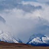 Winter storm brews over the Ben Ohau Range, Mackenzie Country, South Island, New Zealand