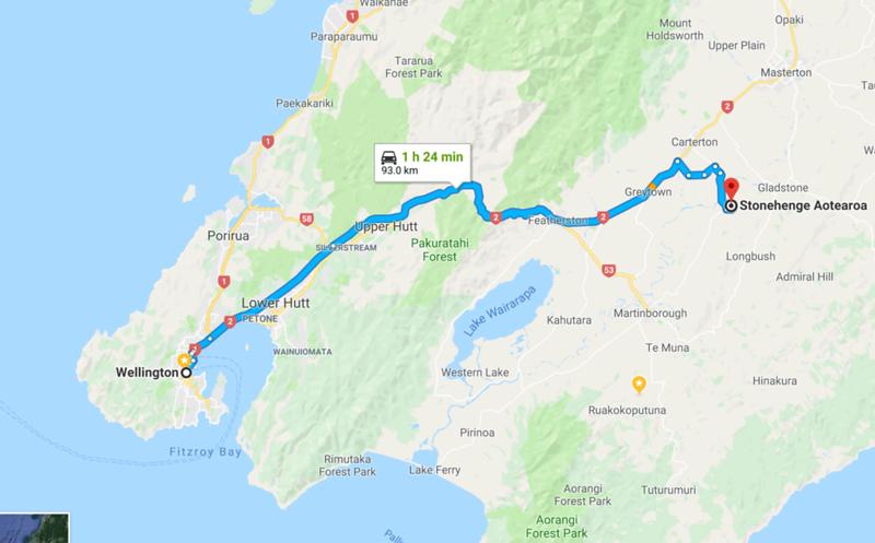 google map stonehenge Aotearoa