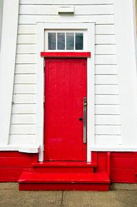 Door to Akaroa Head Lighthouse Akaroa
