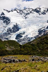 Hooker glacier Aoraki Mt Cook National Park South Island New Zealand