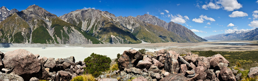 Tasman river Aoraki Mt Cook National Park South Island New Zealand