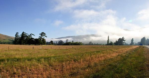Early morning mist Burkes Pass