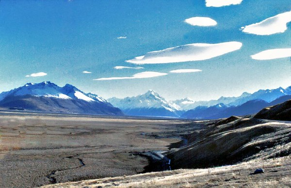 Mt Cook and the Southern Alps Mt Cook National Park New Zealand - Sep 1977