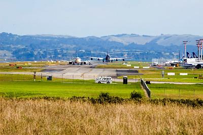 Atlas Air Boeing taxiing Auckland International Airport Auckland New Zealand - 15 Apr 2006