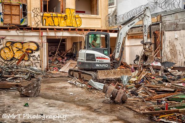 Demolition derby Rutland Street, Auckland