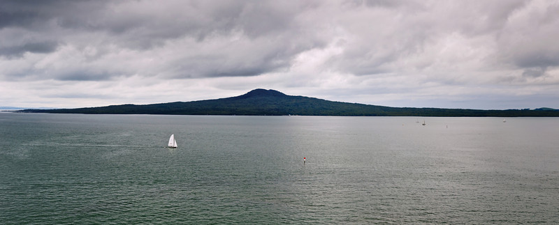 Panorama of Rangitoto Island Hauraki Gulf North Island New Zealand
