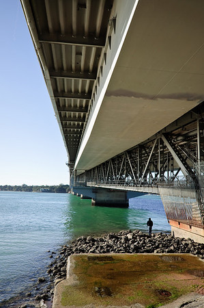 Under the Harbour Bridge Auckland