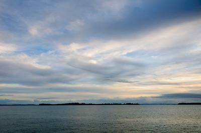 Sunset over the Hauraki Gulf