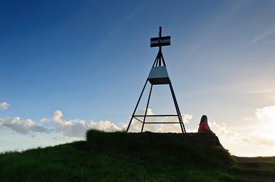 Trig point summit Mt Wellington Auckland New Zealand