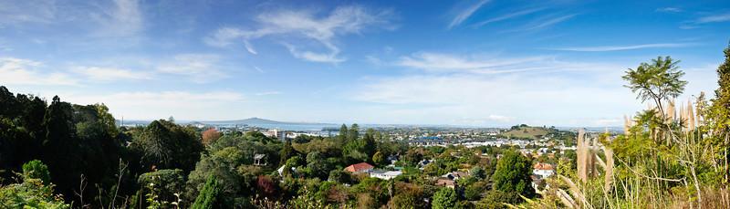 Rangitoto from the top of Eden Garden Auckland New Zealand