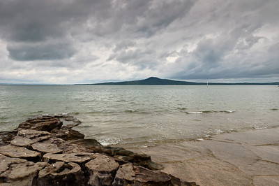 View of Rangitoto from St Heliers beach Auckland New Zealand