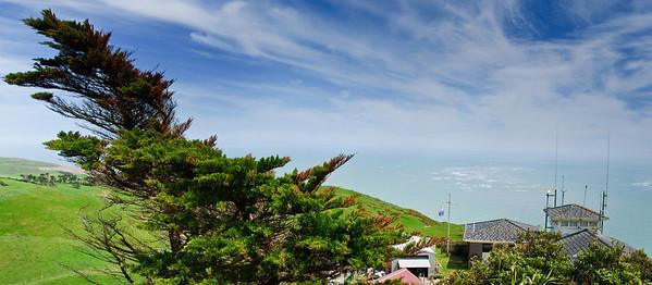 Sand bars and signal station Manukau Heads Awhitu Peninsula North Island New Zealand