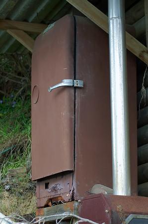 Old fridge Neil great-grandfather's bach Awhitu Peninsula New Zealand - 3 Sep 2006