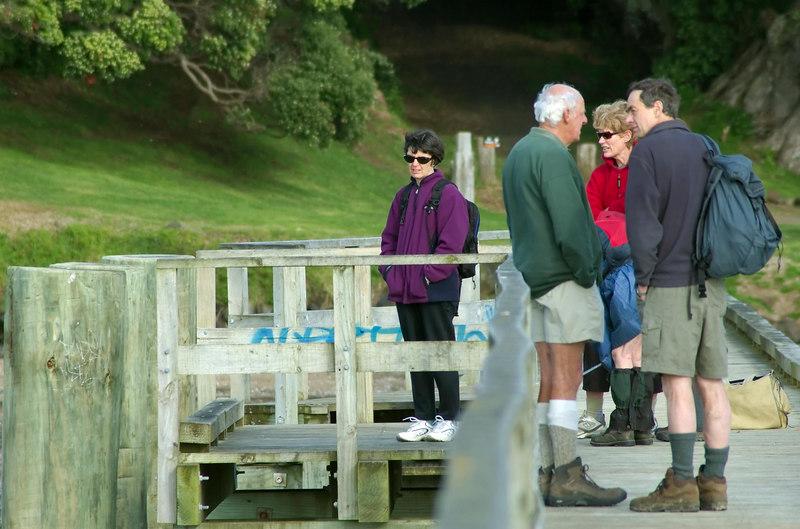 On Cornwallis pier Cornwallis New Zealand - 3 Sep 2006