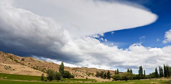 Lenticular clouds Bannockburn Central Otago South Island New Zealand