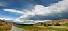 The hills of Bannockburn on a summer day<br /> Bannockburn<br /> Central Otago<br /> South Island<br /> New Zealand