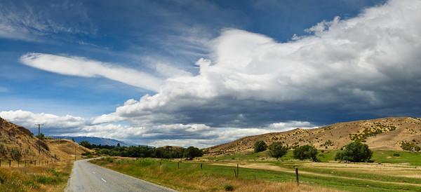 The hills of Bannockburn on a summer day Bannockburn Central Otago South Island New Zealand