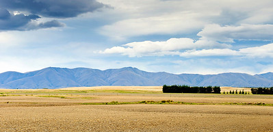 Dry pastures Maniototo South Island New Zealand