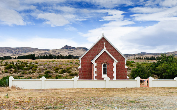 Church at Kokonga Maniototo South Island New Zealand