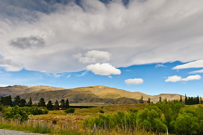 Spectacular cloud formation over St Bathans Central Otago South Island New Zealand