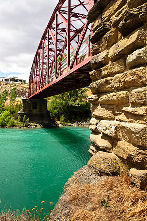 Underneath the Clyde Bridge Central Otago South Island New Zealand
