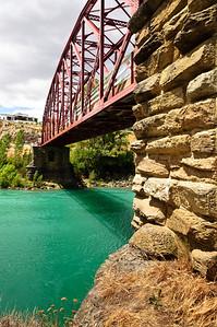 Underneath the Clyde Bridge Central Otago South Island New Zealand