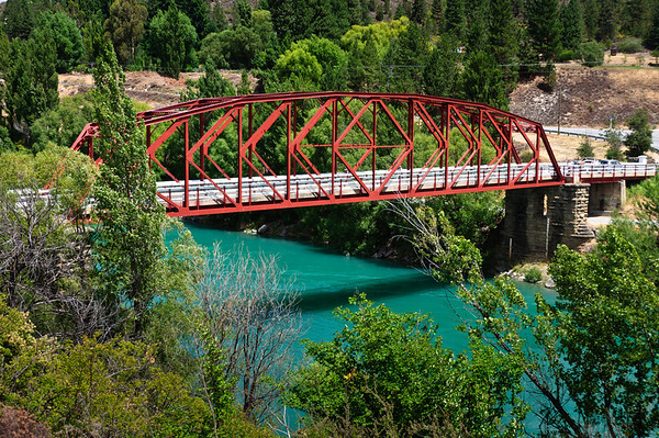 The bridge at Clyde Central Otago South Island New Zealand