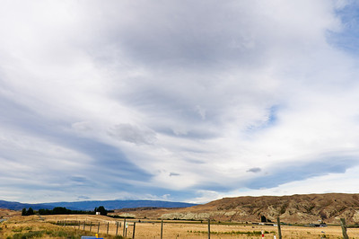 Spectacular cloud formation over the hills around Alexandra Central Otago South Island New Zealand