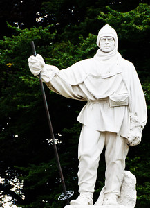 Statue of Robert Falcon Scott Christchurch South Island New Zealand