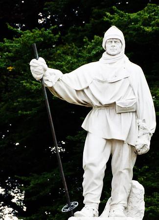 Statue of Robert Falcon Scott Christchurch South Island New Zealand