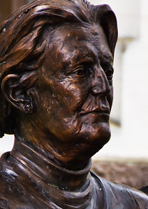 Bronze bust of Margaret Mahy, Christchurch children's librarian, writer of magical stories and verse for children and young adults, giver of the gift of imagination Christchurch South Island New Zealand