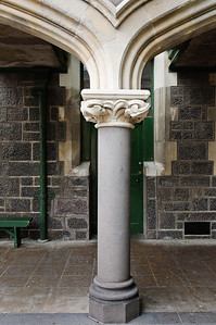 Gothic support column Christchurch Arts Centre South Island New Zealand