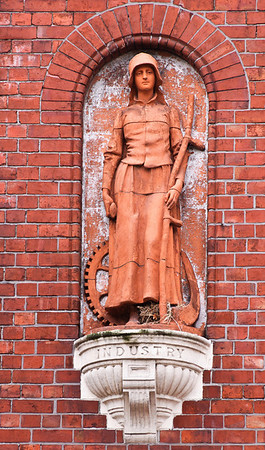 Statue of Industry Old Provincial Council Building Christchurch South Island New Zealand