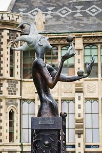Bronze statue of a juggler Arts Centre Christchurch South Island New Zealand
