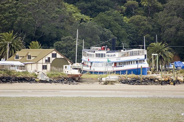 Ngoiro boat restaurant Tairua New Zealand - 2 July 2005
