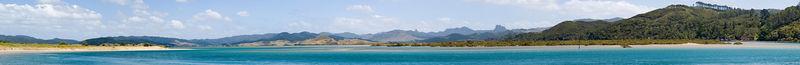 Whangapoua Harbour from Opera Point Whangapoua Coromamndel Peninsula New Zealand - 4 Jan 2006