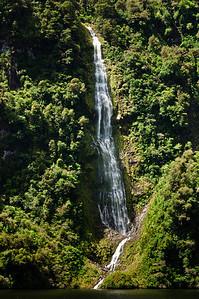 Waterfall Doubtful Sound Fjordland South Island New Zealand
