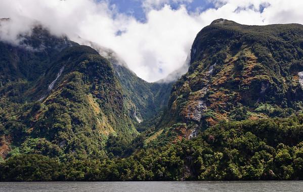 Hanging valley Doubtful Sound Fjordland New Zealand