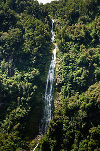 Waterfall Doubtful Sound Fjordland South Island New Zealand