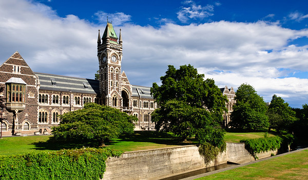Clock Tower Otago University Dunedin South Island New Zealand
